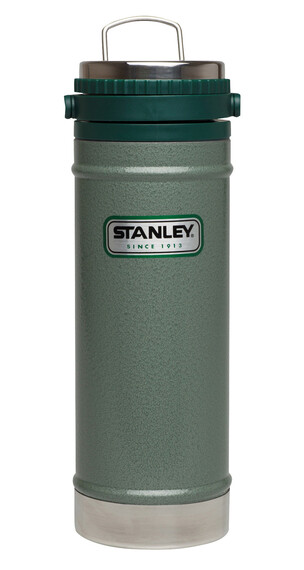 Stanley Classic Vacuum Travel Press Drikkeflaske 473ml grøn/sølv